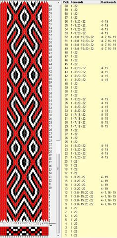 Slavic, 22 tarjetas, 3 colores, repite dibujo cada 40 movimientos // sed_263 diseñado en GTT༺❁