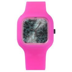 #black - #Green and White Ink on Black Background Watch