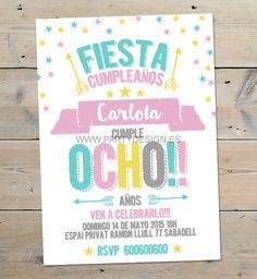 INVITACIÓN INFANTIL ORIGINAL COLORS