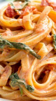 Sundried Tomato Fettuccine (Copycat: Cheesecake Factory) Recipe
