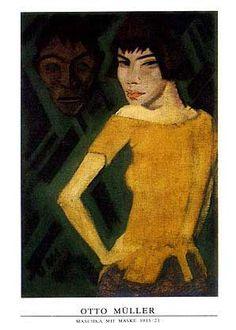 otto muller artwork | Maschka Mit Maske Poster by Otto Muller at Barewalls.com