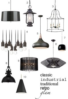All Pendants Hanging Lights Shades Of LightRepin ByPinterest - Black kitchen pendants