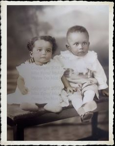Vintage Photograph, Instant Download, Beautiful Sister and Brother