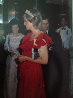 March 30, 1983: Prince Charles & Princess Diana attending a reception at The Wrest Point Hotel in Hobart, Tasmania, during an Official Tour Of Australia.