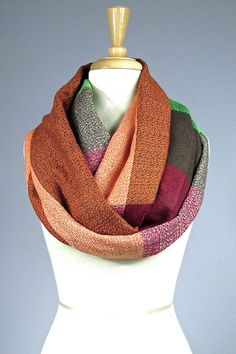 Plaid scarf oversized scarf infinity scarf  by ScarfObsession