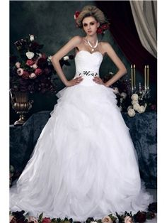 Fabulous Ball Gown Strapless Court Pleats Dasha's Wedding Dress