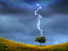 Nature landscape with thunderstorm and lighting #Landscape #Photography   Kozzi Images   Royalty Free Stock Images for just $1