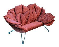 pink floral chair, italian furniture design