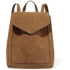 Loeffler Randall Suede backpack (£360) ❤ liked on Polyvore featuring bags, backpacks, brown, loeffler randall bag, suede backpack, brown backpack, day pack backpack and suede bag
