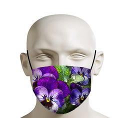 Graphic of some Purple pansies. Printer Ink Cartridges, Pizza Cat, Fashion Mask, Space Cat, Black Eyed Peas, Pansies, How To Stay Healthy, Face Masks, Purple