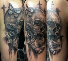 Skull tattoos, a little like death tattoo designs, remind people to experience obstacles and hardships, to take chances and be their best. Description from freetattoostencil.blogspot.com. I searched for this on bing.com/images