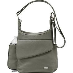 Travelon Anti-Theft Classic Messenger Bag - Exclusive Colors (Pewter - Exclusive