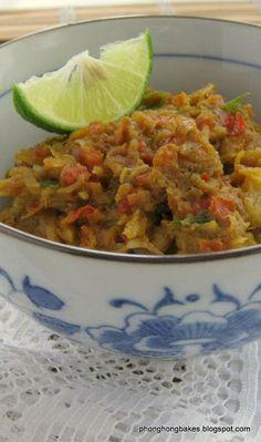 Sambal Tempoyak Malaysian Food, Malaysian Recipes, Indonesian Food, Indonesian Recipes, Sambal Recipe, Shrimp Paste, Asian Cooking, Rice Vinegar, Fish Sauce