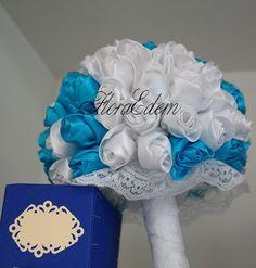 Букет невесты в стиле Тиффани.  Букет невесты из атласных лент. Купить или заказать букет невесты можно в Нарве. Доставка по всей Эстонии Информация: + 372 53 815 356