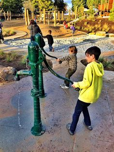 Irvine Adventure Playground Water Pumps