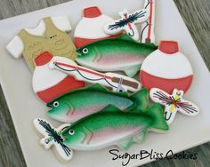 Gone Fishing (Decorated Cookies)