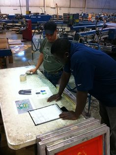 "Before every job is run, our crews have a ""huddle"" to discuss locations, ink colors, quantities, sizes and any special instructions for the order so they comprehend everything before the job is set up.  This saves time, and  increases our quality control for each order.  www.visualimp.com"