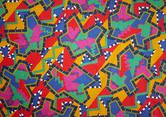 Nathalie du Pasquier original GABON Fabric for MEMPHIS 1982
