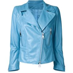 Sylvie Schimmel zip up jacket (37.435 RUB) ❤ liked on Polyvore featuring outerwear, jackets, blue, zip up jackets, sylvie schimmel, blue jackets and blue zip up jacket