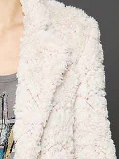 X Marks Faux Fur Coat; NEED this! so snuggly