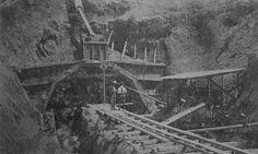 Construcción del túnel de Guajataca,Puerto Rico.
