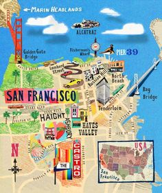 If you've lived here for a while, thegeography of San Francisco is easy to picture in your head—a little peninsula jutting out of the bottom with two bridges and a few islands. But a map doesn't have to just be amap. Artistscan bring that...