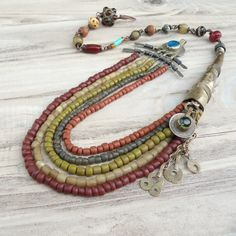 Gypsy Queen Necklace Rustic Tribal Bohemian Layered by GypsyIntent