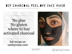 Charcoal Peel off Face Mask For Blackheads and Whiteheads : No Glue .. No Gluten