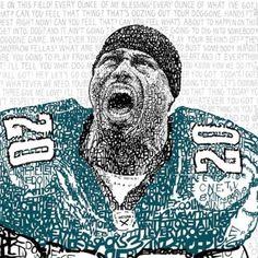 NEW-NFL-Philadelphia-Eagles-Brian-Dawkins-Pre-Game-Speeches-Word-Art-CHOP