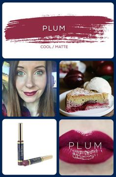 Plum LipSense is a cool, velvety burgundy berry.