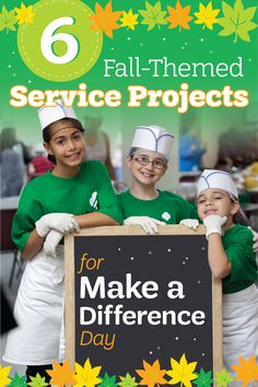 Looking for a fun fall-themed service project that your troop will love? Troop leader Angela shares 6 simple ideas for helping your girls serve their communities (and have fun doing it)! Brownie Girl Scouts, Girl Scout Troop, Make A Difference Day, Community Service Projects, Girl Scout Juniors, Leadership Roles, Autumn Theme, Troops, Project Ideas