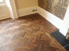 Teak Herringbone Floor