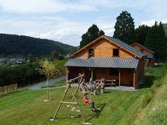 """2 Holiday Cottages """"Chalets des Ardennes"""" in Alle-sur-Semois (Vresse-sur-Semois), Namur Ardennes, South Belgium."""