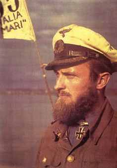 Robert Gysae with his beards after long patrol...