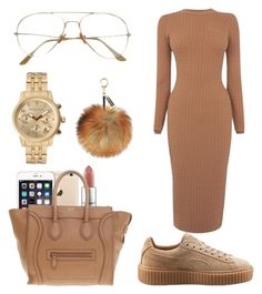"""Comment if u think i should make a contest"" by kodak-miyaaaa ❤ liked on Polyvore featuring Karen Millen, MAC Cosmetics, Michael Kors, CÉLINE and Puma"