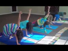 Yoga for Tweens using Yoga cards and lovely music in background.