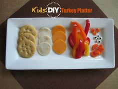 Kids DIY Turkey Platter creativefunfood.com