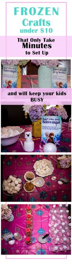 EASY Frozen crafts you can do in minutes under $10 each! | The Mommies