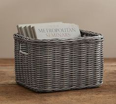 Wicker Weave Utility Baskets #potterybarn