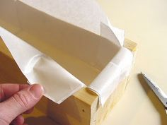 "A quick easy way to line your box soap mold. I place my freezer paper over the top of the mold and ""trace"" . Handmade Soap Recipes, Soap Making Recipes, Handmade Soaps, Diy Soaps, Savon Soap, Soap Making Supplies, Soap Boxes, Bath Soap, Lotion Bars"