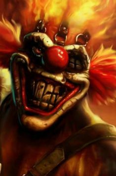 Sweet tooth from Twisted Metal (video game) Clown Faces, Creepy Clown, Dark Fantasy Art, Royal Ballet, Body Painting, Clown Tattoo, Insane Clown Posse, Clown Mask, Send In The Clowns