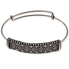 Alex and Ani Trapeze Bangle Russian Silver We might have started an obsession.