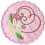 Patisserie Delight Coaster machine embroidery design, currently FREE at Hatched in Africa.