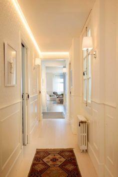 Home Room Design, Home Interior Design, House Design, Led Hallway Lighting, Led Light Design, Living Room Color Schemes, Grand Designs, Hallway Decorating, Room Colors
