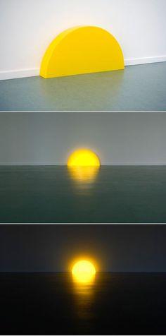 : Skirting Board Sunset Year: 2008 Materials: perspex, led lighting Dimensions: L 10 cm W 75 cm H 38 cm Photos by Lotte Stekelenburg Luminaire Design, Lamp Design, Lighting Design, Lighting Ideas, Design Design, Interior Design, Light Art, Lamp Light, Sun Light