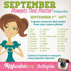 September Moments that Matter ~ Join Us!   {photo journal prompt}