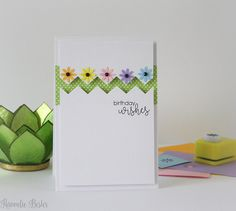 desert diva- im liking the basic design of this card with the patterned paper peeping through...could do a lot with it