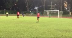 The Singapore #FACup had a somersault #penaltykick in it and it was done by a lad named Syafiq Sazali who plays for the Yishun Sentek Mariners. #goal #soccerskills #soccerpractice #success #soccer