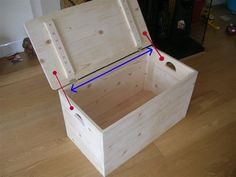 I madethis simple storage box for my baby's toys. It's an easy one day project and you can improve or add your own design to it. Material you will need: Your choice of wood. Mitre saw, skill sawor hand saw. Jigsaw (use special blade for cutting angles) Biscuit jointer and biscuits no10. Hand sander. different grit levels. Cordless drill ( for screws and pilot holes) PVA Glue, glue roller,tape, pencil, screws, pins, 2 hinges, clamps, set ...