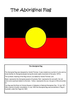 Australian Aboriginal Flag teaching resource.  - Explore the World with Travel Nerd Nici, one Country at a Time. http://travelnerdnici.com Aboriginal Flag, Aboriginal Symbols, Aboriginal Dreamtime, Aboriginal Culture, Aboriginal People, Indigenous Education, Aboriginal Education, Indigenous Art, Australian Flags